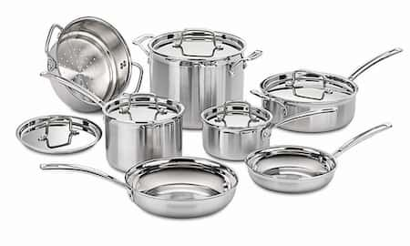 Cuisinart Stainless Steel 12-Piece Cookware Set for large family