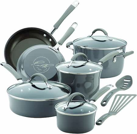 Rachael Ray Cucina Nonstick Cookware set for large family