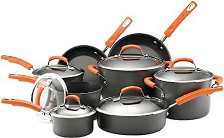 Rachael Ray Nonstick Cookware Set for large family