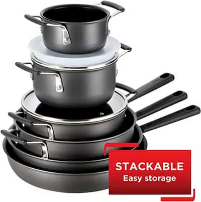 T-fal B003SC63 space-saving and stackable Cookware Set