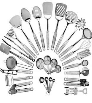 Stainless Steel Kitchen Utensil Set for stainless steel cookware