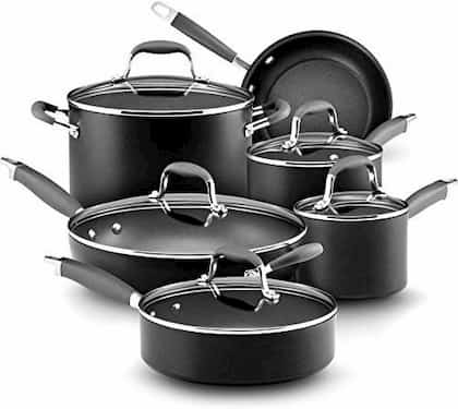 Anolon Advanced Hard Anodized Cookware Set To Use With Metal Utensils