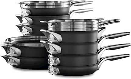 Calphalon Premier Space Saving cookware set To Use With Metal Utensils